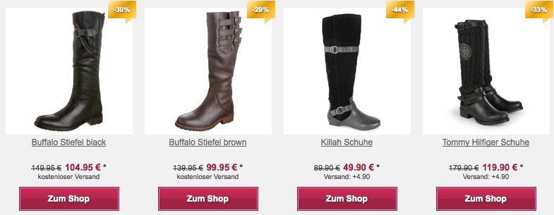Online Shop der Stiefelfabrik